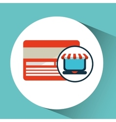 Online shopping concept credit card vector