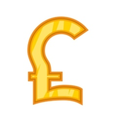 Pound sterling icon cartoon style vector image vector image