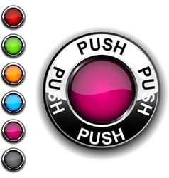 Push button vector image