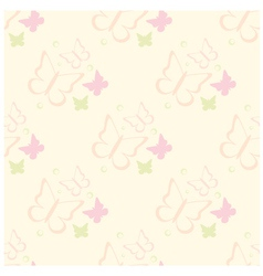 seamless butterflies pattern vector image vector image