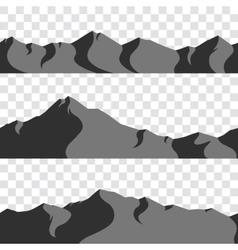 seamless mountains collection vector image vector image