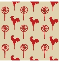 Seamless pattern cock lollipop vector