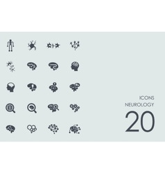 Set of neurology icons vector