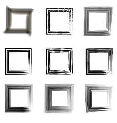 set vintage frames for photos vector image vector image