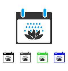 Spa shower calendar day flat icon vector
