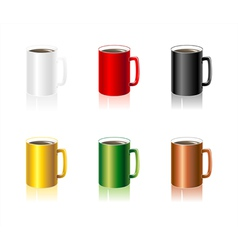 SSet colorful Cups vector image vector image