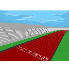 Stadium and racetrack vector