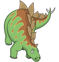 Stegosaurus cartoon vector image vector image
