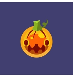 Stylised simple pumpkin lamtern vector