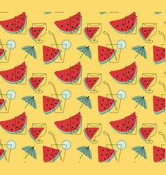summer lemonade with watermelon wallpaper vector image vector image