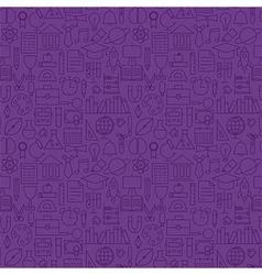 Thin school line education knowledge purple vector