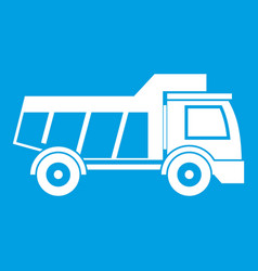 Toy truck icon white vector