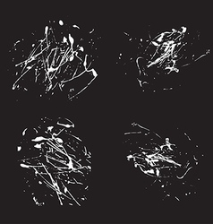 white splatter paint abstract on black background vector image vector image