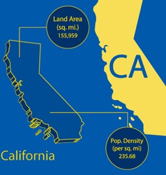 California 3D info graphic vector image