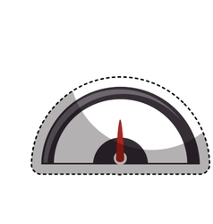 pressure gauge isolated icon vector image