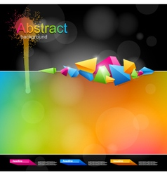 Abstract design in bright colors vector