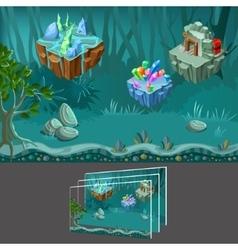Cartoon mining game concept vector