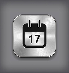 Calendar icon - metal app button vector