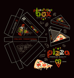 Stock design of boxes for pizza slice vector