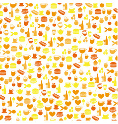 Colorful pattern health food products vector