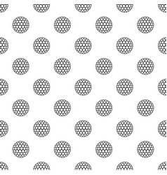 Black and white golf ball pattern vector