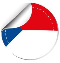 Sticker design for czech republic flag vector