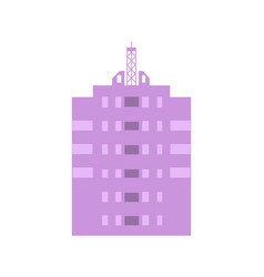 Commercial real estate isolated icon vector