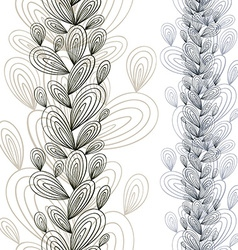Exotic floral seamless pattern vector