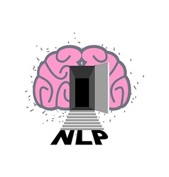 Nlp logo brain with door open log into my vector