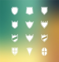 Set of blank badge vector
