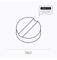 Tablet icon medicine drug sign vector