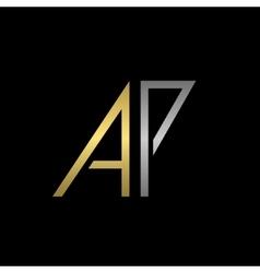 AP letters logo vector image