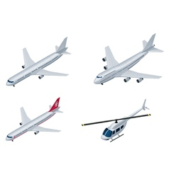 Isometric airplanes vector