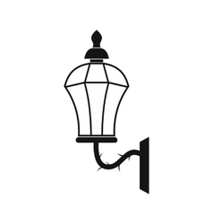 An old lamp in london icon simple style vector