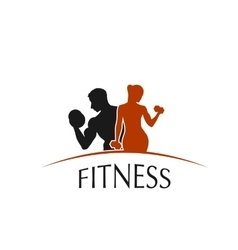 Icon fitness club vector