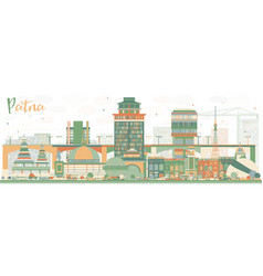 abstract patna skyline with color buildings vector image vector image