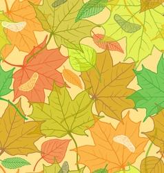 Autumn Fallen Leaves Pattern vector image
