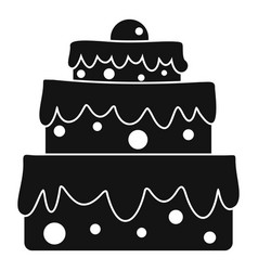 Big cake icon simple style vector