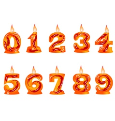birthday candle as numbers vector image vector image