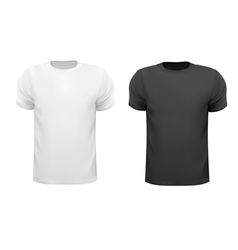 Black and white men polo shirts Design template vector image vector image