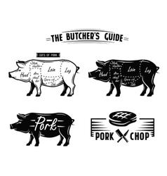 Black pig symbol vector