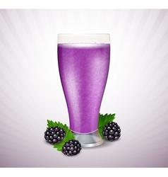 Blackberry milk vector image vector image