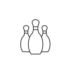 Bowling pins icon vector