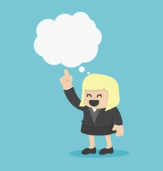 Business woman with speech bubbles vector