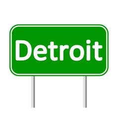 Detroit green road sign vector