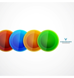 Geometrical circles abstract design template vector image
