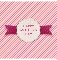 Happy mothers day festive sign vector