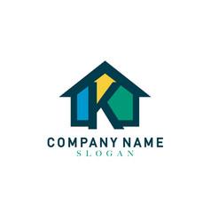 home letter k design vector image