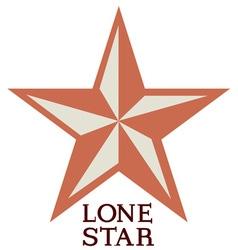 Lone star vector