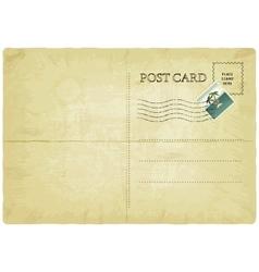 Old postcard vector
